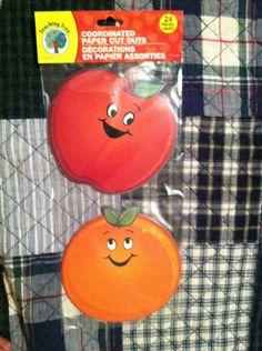 1 PKG Educational Diecuts Apples AND Oranges Teachers Daycares Homeschoolers   eBay