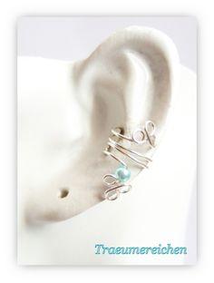Weiteres - Mit Perle nach Deiner Wahl! Ohrklemme, Ohrspang... - ein Designerstück von Traeumereichen bei DaWanda