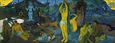 Paul Gauguin; Da dove veniamo? Chi siamo? Dove andiamo?; 1897-98; olio su tela; Museum of Fine Arts, Boston.