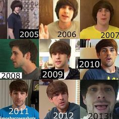 The stages of Ian Hecox's hair, not going to lie I like the bowl but 2008 tho..