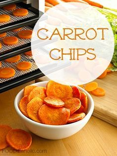 Looking for snacks to eat throughout the day to boost your energy naturally? Try these delicious carrot chips with your Excalibur Dehydrator today!