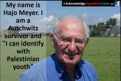 ... Holocaust survivor concerned about Palestinian youth.