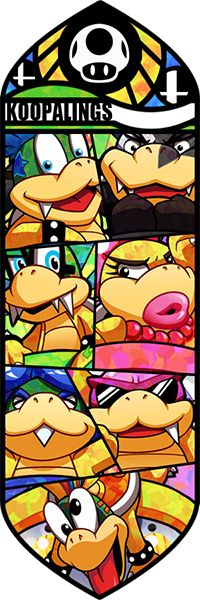 Panel with all seven Koopalings. High-Res x 1800 x version for 20 points on the right-side Smash Bros - Koopalings Mundo Super Mario, Super Mario World, Super Mario Brothers, Super Mario Bros, Pokemon Zelda, Viewtiful Joe, Yoshi, Bartop Arcade, Super Smash Bros Brawl