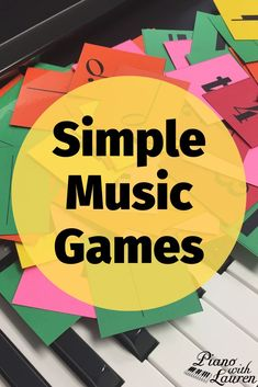 These are fun & simple music games for kids that you can use in your music lessons. The printable cards can be used in a variety of ways offering endless possibilities for games in music lessons Online Music Lessons, Elementary Music Lessons, Music Lessons For Kids, Music For Kids, Piano Lessons, Elementary Schools, Preschool Music Lessons, Music Music, Music Notes