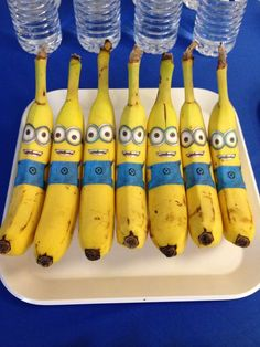 Funny bananas at a Minion birthday party! See more party planning ideas at CatchMyParty.com!