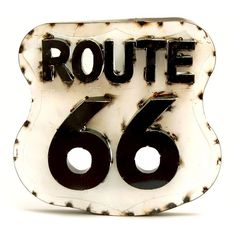 Rustic Arrow ''Route 66'' Wall Decor ($90) ❤ liked on Polyvore featuring home, home decor, wall art, black, modern metal wall art, metal wall art, metal home decor, modern home decor and modern home accessories