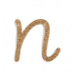 Letra Glitter N