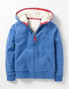 Shaggy-lined Hoodie (Mountain Blue Marl)