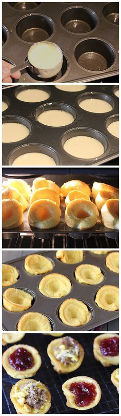 Pancake Breakfast Cups - I wonder if a Paleo version would work?? What a great make-ahead idea!!