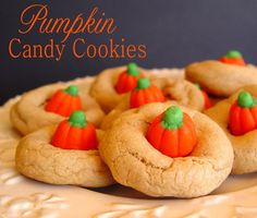 Jamie Cooks It Up!: Pumpkin Candy Cookies  Sounds really good
