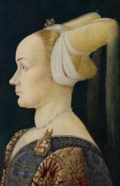 Anonimo nord-italia - Ritratto di profilo di una donna - 1475 - National Gallery of Victoria, Melbourne