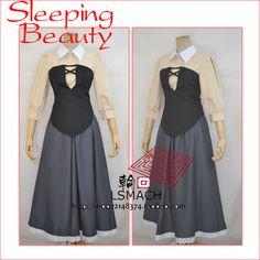 Sleeping Beauty Princess Aurora Dress Cosplay Costume Briar Rose Costume