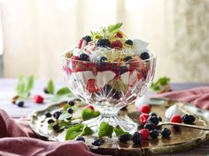 Enjoy making our simply delicious summer berry lemon meringue trifle! Summer Berries, Trifle, Something Sweet, Meringue, Panna Cotta, Berry, Lemon, Ethnic Recipes, Desserts