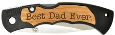 Father's Day Gift Best Buckin Dad Grandpa Ever Laser Engraved Pocket Knife -- More info could be found at the image url.