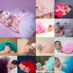 Bestborn Headdress Flower+Tutu Clothes Skirt Baby Girls Photo Prop Outfits