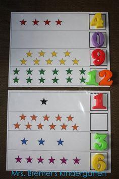 Mrs. Bremer's Kindergarten: More Pinterest-Inspired Creations. math and ELA center ideas