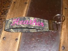 Personalized Key Fob/Key Chain Mossy by BILLEEVERSBOUTIQUE