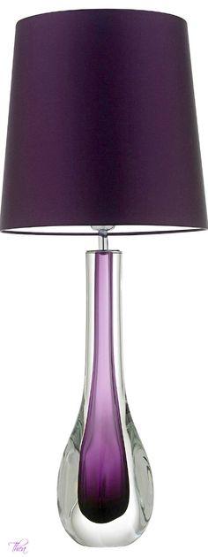 {Villa} Purple lamp #purple #homedecor #villa
