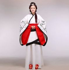 Celebration Hanfu Chinese Clothing Embroidered Han Dynasty Clothing (two color ) $86.19