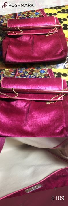 Authentic Vintage Charles Jourdan Handbag Vintage , good condition,, one minor issue: The fastening button will not lock, it can be adjusted or repaired. Size 11X 10 inches with a 15 inches long. Charles Jourdan Bags Shoulder Bags