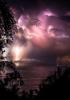 artofvizuals: Costa Rica Lightning by Jarrod Lopiccolo Beautiful Sky, Beautiful Landscapes, Beautiful World, Look Wallpaper, Nature Wallpaper, Nature Artwork, Nature Drawing, Landscape Photography, Nature Photography