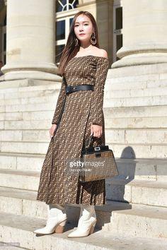 180704 Jessica Jung @ Fendi Haute Couture Show in Paris Jessica & Krystal, Krystal Jung, Fendi, Jessica Jung Fashion, Ex Girl, Fairytale Dress, Girls Generation, Korean Fashion, Cool Outfits