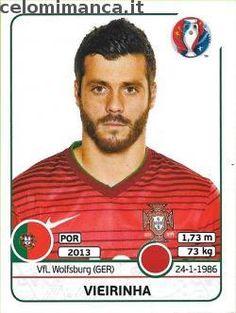 UEFA EURO 2016™ Official Sticker Album: Fronte Figurina n. 584 Vieirinha Portugal Euro 2016, France Euro, Uefa Euro 2016, Fifa, Baseball Cards, Stickers, Mullets, Albums, Soccer