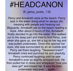 It was the best underwater kiss ever... again Percabeth at the beach