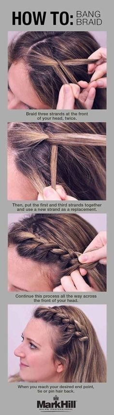 If you have bangs, now would be a good time to learn a bang braid. | 17 Actually Practical Makeup Tips For New Moms