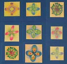 Waldorf ~ 3rd grade ~ Form Drawing ~ cards