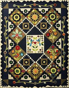 Beautiful cotton and wool applique quilt - can't wait to get started!