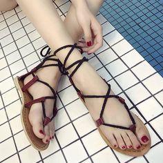 GET $50 NOW   Join RoseGal: Get YOUR $50 NOW!http://www.rosegal.com/sandals/tie-up-flat-heel-sandals-1170061.html?seid=4514413rg1170061
