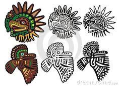 Glyphs mayas, dioses del águila