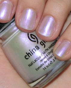 China Glaze Rainbow - iridescent sheer white with purple and pink tones