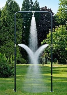 Outdoor Showers: The New Accessible Luxury (MAKE IT A TAD WIDER AND IT WOULD BE A GREAT WASH RACK FOR A HORSE!)