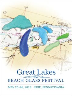 'Great Lakes Beach Glass' festival poster - Relish, Inc. Store