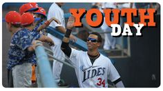 The Tides are proud to welcome hundreds of local youth baseball players to enjoy a game of Tides baseball at Harbor Park.  Sunday, June 14 at 1:05 PM vs LH Valley IronPigs