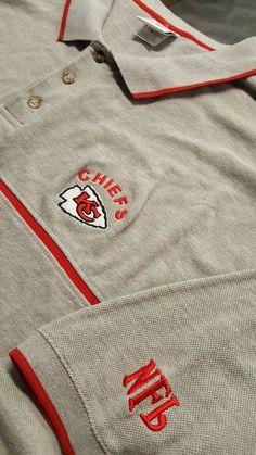 047650b8dc1 Kansas City Chiefs Mens Big Tall Size Large Short Sleeve Shirt Gray NFL  Football  VFImagewear  KansasCityChiefs