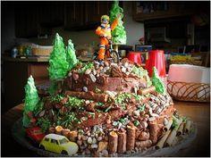 DIY Birthday Cake For Our Mountain Biker cakepins.com