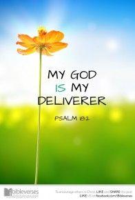 My God is my deliverer