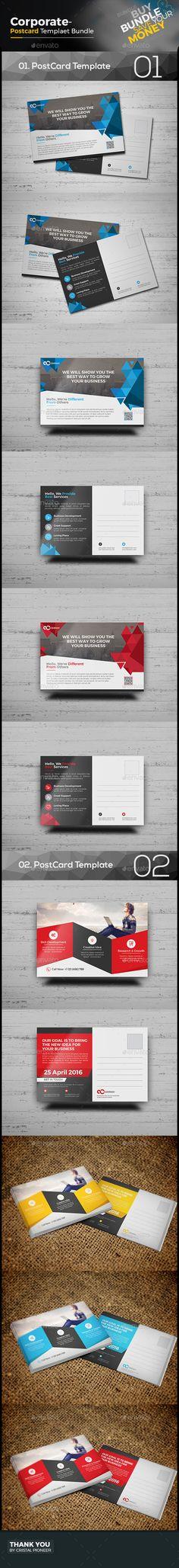 Postcard Template Postcard template, Business postcards and Ai - postcard template