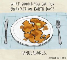 Pangea-cakes - and you can eat them on tectonic plates...