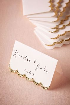 Take a look at our pick of 40 DIY wedding place cards. Find unique wedding name cards here, in order to get your guests to their tables. Wedding Name, Wedding Places, Gold Wedding, Name Place Cards Wedding, Wedding Stuff, Wedding Bells, Wedding Reception, Reception Seating, Gatsby Wedding