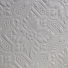 "Brewster Home Fashions Anaglypta Paintable 33' x 20.5"" Howard Supaglypta Floral Embossed Wallpaper"