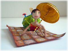 El prat Paper Mache Crafts, Princess Zelda, Disney Princess, Polymer Clay, Disney Characters, Fictional Characters, Paper Mache, Baby Dolls, Paper Mache Sculpture