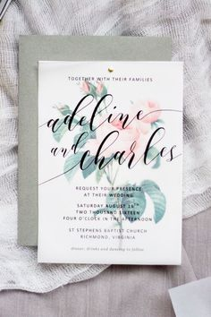 Make your own beautiful floral wedding invitations with nothing more than some vellum paper, a few sheets of cardstock and a home printer.