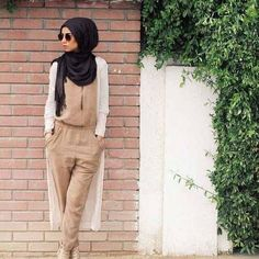How to wear jumpsuits with hijab – Just Trendy Girls