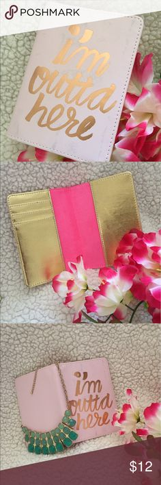 Passport Cover Hot pink and gold interior Accessories Key & Card Holders