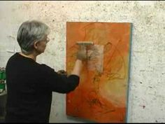 Abstract painter shows and tells us how she works