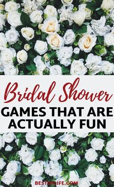 Throw a fun bridal shower everyone will remember with these hilarious and entertaining bridal shower games for large groups. Bridal Ahower Games, Bridal Shower Games Prizes, Wedding Shower Games, Bridal Shower Party, Bridal Shower Decorations, Bridal Showers, Hilarious Bridal Shower Games, Large Group Games, Bridal Shower Checklist